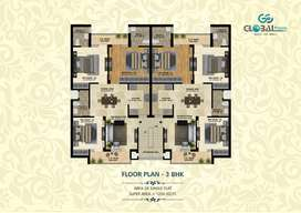 3 BHK fully spacious independent ready to move flats in Mohali