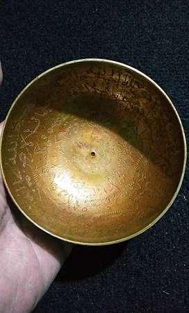 Kuno Mangkok peninggalan antik ukiran lafal ARAB-MKK 01-