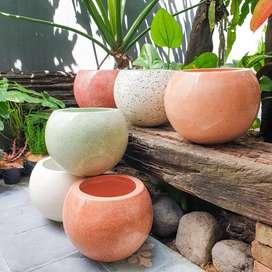 Pot Marble Terrazzo tipe Bola