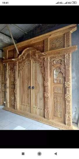 Pintu kusen Gebyok Kayu Jati bukana