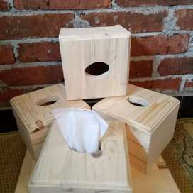 Kotak tissue jati belanda - tisu kecil