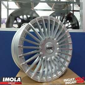 Pelek mobilio ring 17 HSR wheel baut 4x100 dan 4x114,3 Gresik