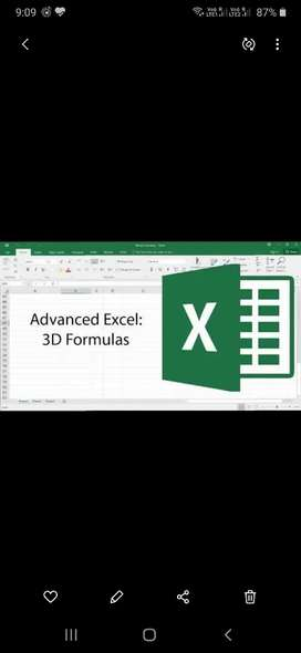 *Advanced Excel* *Video recordings of Live Classes
