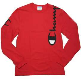 Champion long sleeve over the shoulders logo red