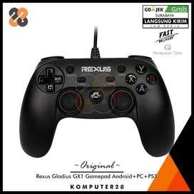 Rexus Gladius GX1 Gamepad Android-PC-PS3 - Connector Micro USB dan USB