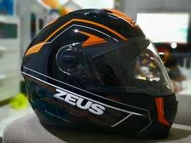 Zeus plasma ukuran xl hitam orange putih