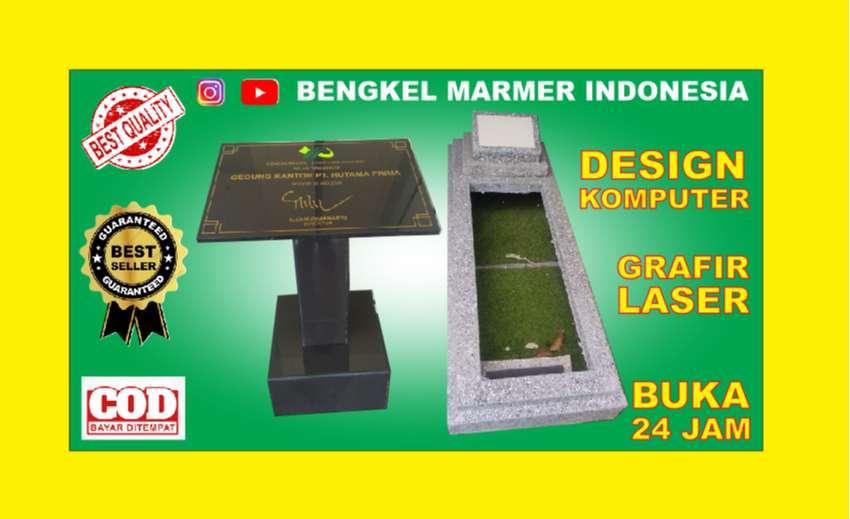 Bogor Plakat Prasasti Peresmian Makam Kuburan Batu Nisan Marmer Granit