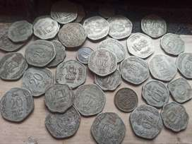 Old indian coins collection