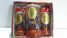 Brand new unused Pack of Decorative Glass Gift Set - 3 Pieces