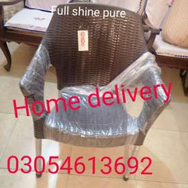 Full shine pure rattan chair choclate PURO BRAND home delivery availa