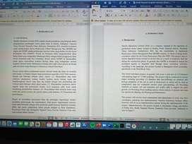 Terjemahan dokumen Bahasa Inggris ke Indonesia dan sebaliknya