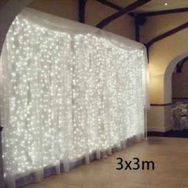 Lampu Gorden Dekorasi Wedding Fairy Light 3x3Meter 300LED