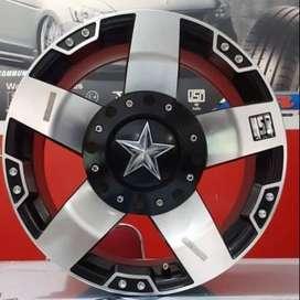 Velg mobil Racing HSR RASTA Ring 17 lebar 9 Untuk Terios Rash Xpander