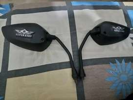Super Star bike mirror set. Just like new for sell.