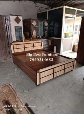 Brand New Square Design Double Bed 302