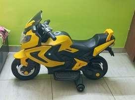 Yellow toy bike
