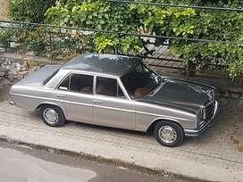 mercedes w114, series model 1971, diesel sedan car.