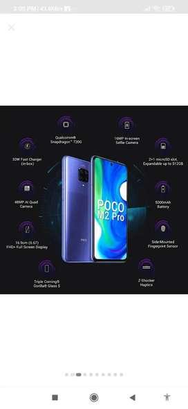 Poco m2 pro (6gb ram)720snapdragon processor
