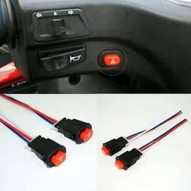 Switch On Off Push Button Tombol Saklar Hazard Motor