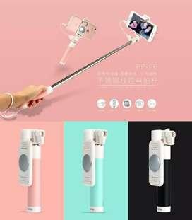 grosir tongsis kabel mini+cermin model imut