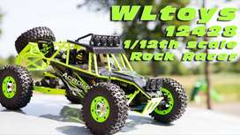 RC Car WL Toys 12427 / 12428 2.4G 1/12 4WD Crawler RC Car W/ LED Light
