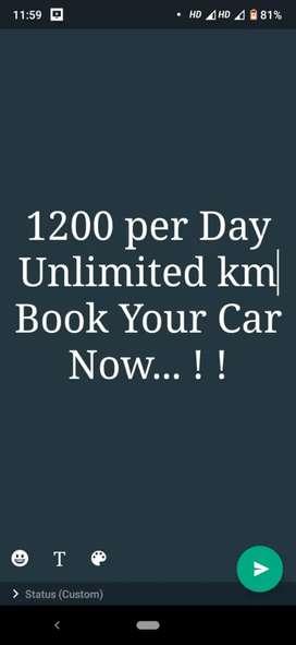 1200 per Day Self Drive Car