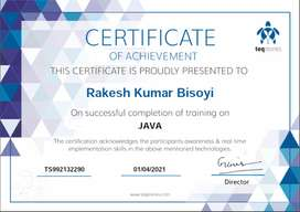 core JAVA, SQL Tutor