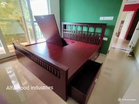 Factory direct wooden storage Cot available