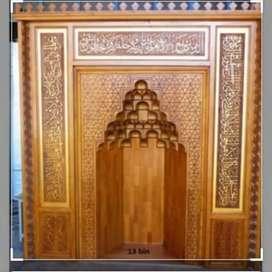 Gebyok bergambar masjid