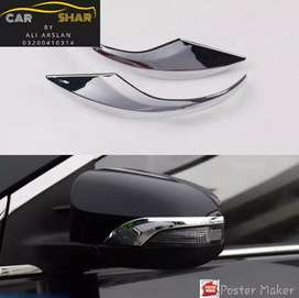 Side mirror chrome trim side mirror  chrome chiri aqua vitz gli xli