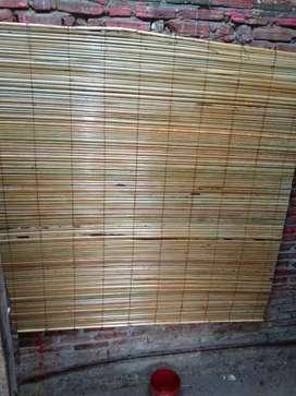 Tirai kayu motif dan isi bambu dan tirai rotan,kulit rotan