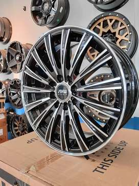 Velg Amw Ring 16x7.0 pcd 4x100/114.3 buat jazz yaris vios city