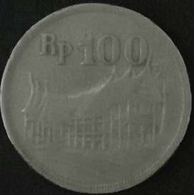 uang koin 100 gunungan tebal/tipis