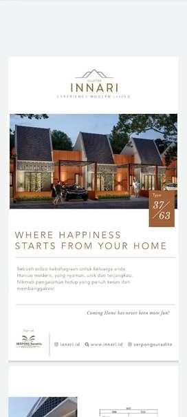Jual rumah cluster baru di Serpong harga promo