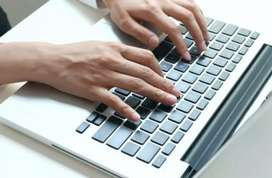 Computer Typist having good knowledge of hindi & english typing