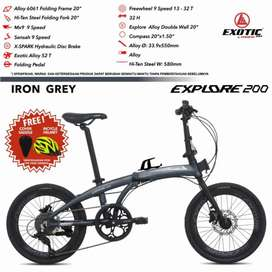 Sepeda Lipat Baru Exotic Explore 200