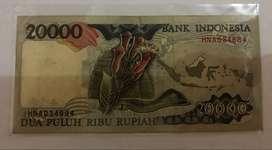 Jual Uang Kuno 20.000 Cenderawasih merah Tahun 1995