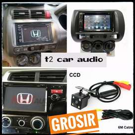 For jazz/brio mobilio dvd 2din android link 7inc+camera hd grosir om