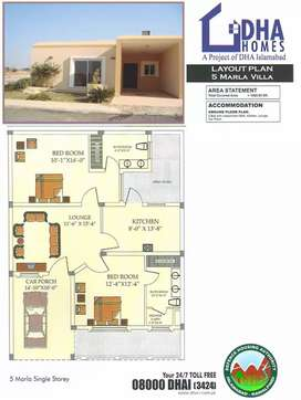 5 Marla Dha Home Non Ballot for sale in Dha valley Islamabad