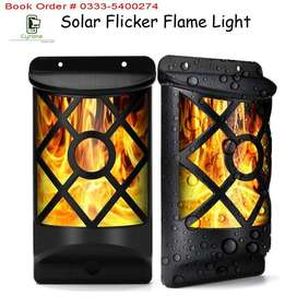 Garden & Wall Solar Flickering Flames Lamp Light Waterproof 66 LEDs