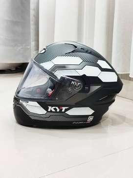 KYT NFR NF-R Casco Hexagon Black White Hitam Putih Fullface Makassar