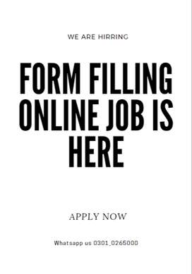 Work and earn pocket money from online Form Filling online job at home