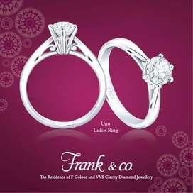 Cincin berlian / Diamond Ring Ladies 0,32 carat VVS 1 Frank & Co