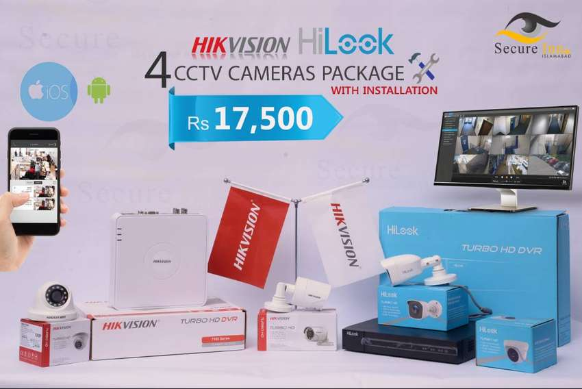 Hikvision Hi-Look Series 4 Cameras with 1 Year Services 0