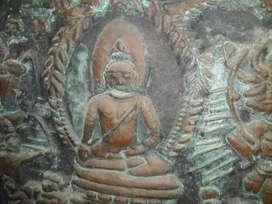 Relief tembaga ukuran 53 X 48 cm