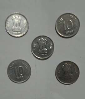 10 Paisa S.S. Small Coin 1988--89