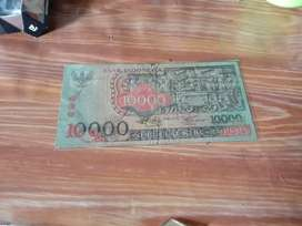 Uang kuno 10.000 barong tahun 1975
