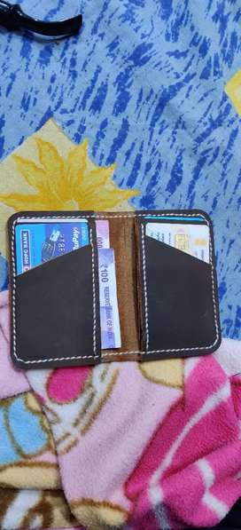 Pure leather Handmade Mens Wallet