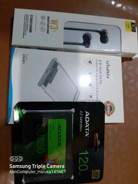 Bundle Ssd Adata 120gb + Case Usb 3.0 +++ Bonus Headset Bass