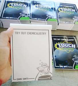 Cetak buku murah free desain blocknote seminar kit